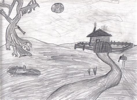 pencil sketch designs photos pencil sketches of sceneries creepy pencil landscape by mackdady412 on deviantart