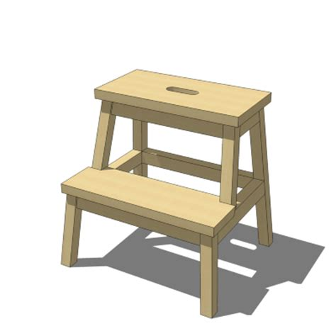 bekvam stool ikea bekvam step stool 3d model formfonts 3d models