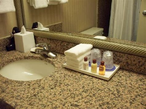 bathroom amenities in the upgraded'Club' level floor Picture of Sheraton Reston Hotel, Reston