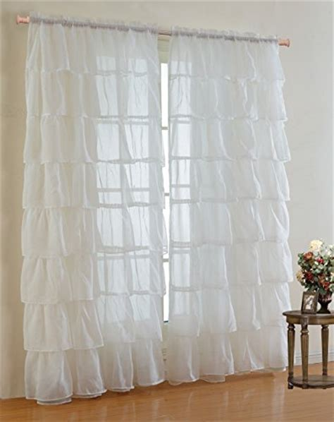 drapes 110 inches long mk collection gypsy crushed ruffle sheer curtains 110