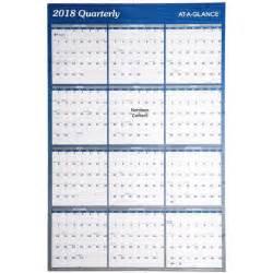 Calendar 2018 At A Glance At A Glance A1102 A1102 18 2018 Erasable Wall Calendar 24