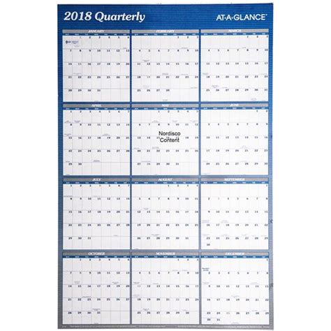 2018 Calendar Wall At A Glance A1102 A1102 18 2018 Erasable Wall Calendar 24