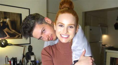 boyfriend haircut story madelaine petsch gives boyfriend travis mills a haircut