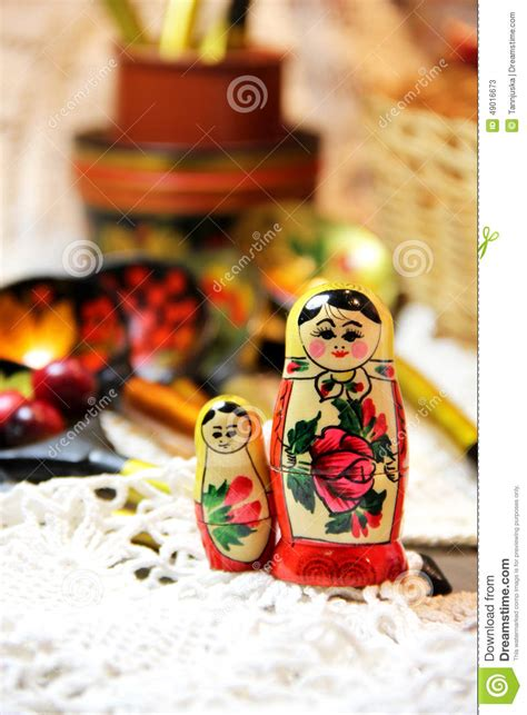 traditional russian gifts mix of traditional russian souvenirs stock photo image