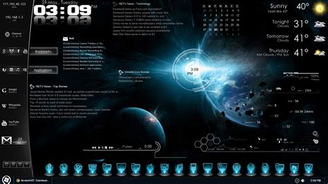 rainmeter themes for windows 8 1 space galaxy blue pics about space