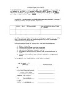 Trailer Rental Agreement Template by Doc 7281064 Trailer Rental Agreement Template The