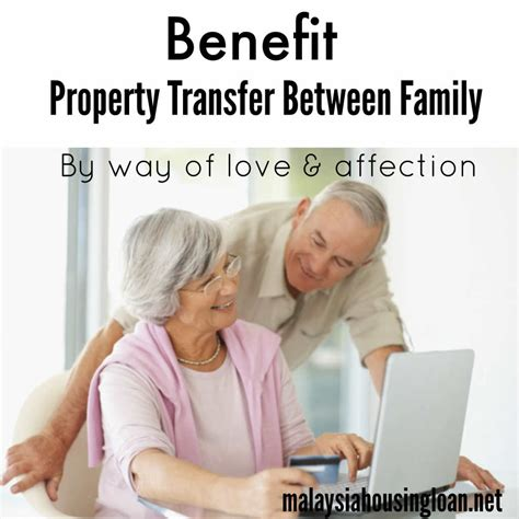 housing loan transfer benefit property transfer between family malaysia