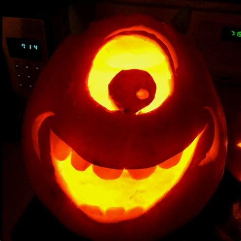 25 best ideas about mike wazowski pumpkin on pinterest