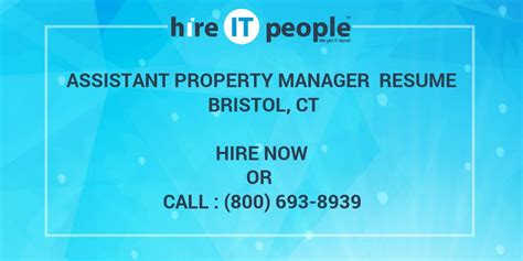 How To Hire An Assistant Manager Assistant Property Manager Resume Bristol Ct Hire It