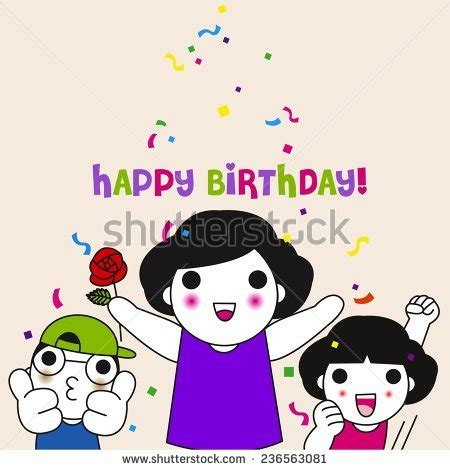 Happy Birthday Cards Characters Stock Images Royalty Free Images Vectors Shutterstock