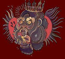 conor mcgregor gorilla tattoo conor mcgregor gorilla tattoo brown women s fitted v