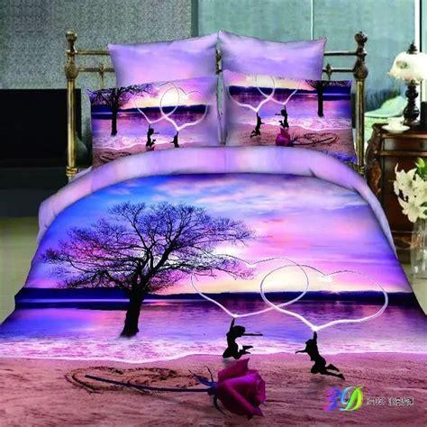 purple queen size bedding aliexpress com buy rose beach love heart light purple