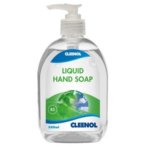 Spl Liquid Soap cleenol 058212 envirological liquid soap 6x500ml mammothcleaningsupplies co uk