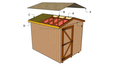how to build a shed roof step by step quick woodworking projects
