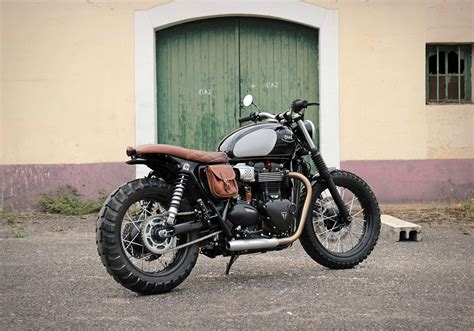 Triumph T100 Custom by Patrice S Chic Triumph Bonneville T100 Tracker By Baak