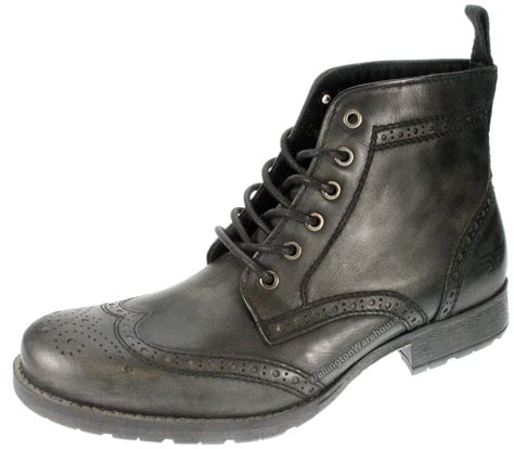 apt 9 mens boots mens butley brown leather lace up brogue boots