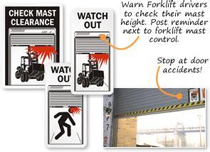 Fire Pit Construction - dock door warning check door clearance signs