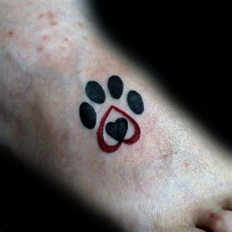 tattoo heartbeat dog 70 dog paw tattoo designs for men canine print ink ideas