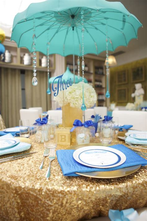 Umbrella Centerpieces For Baby Shower Blue White And Baby Shower Umbrella Centerpieces