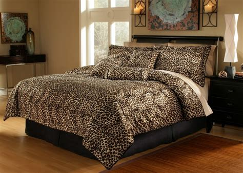 7 piece leopard animal kingdom bedding comforter set