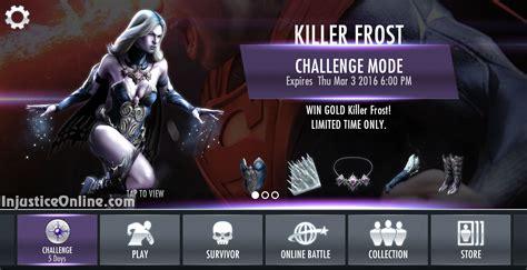 injustice mobile challenge killer challenge for injustice mobile injustice