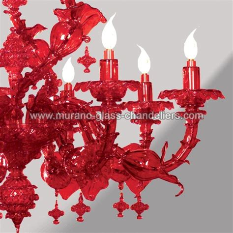 kronleuchter rot glas quot rubino quot rot murano glas kronleuchter murano glass