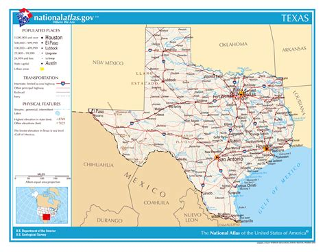detailed texas map large detailed map of texas state the state of texas large detailed map vidiani maps of