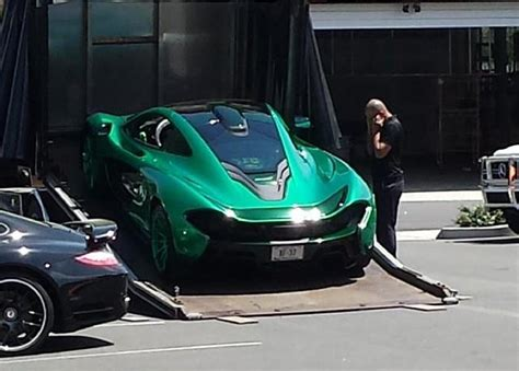 maserati teal green mclaren p1 with green wheels spotted in u s