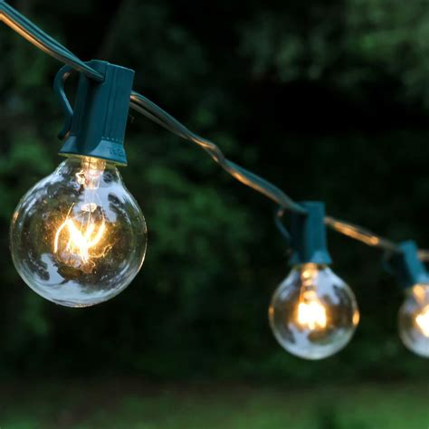 lumabase light globe string lights in clear 25 pack