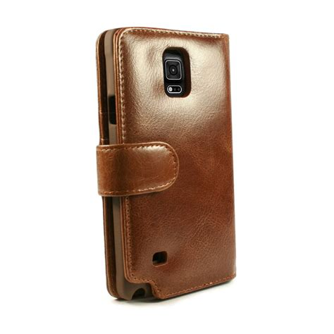 Leather Jete Samsung Note 4 housse portefeuille cuir samsung galaxy note 4 tuff brun