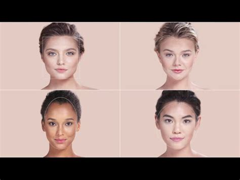 what shape face is an upside down tria identify your face shape to contour sephora youtube