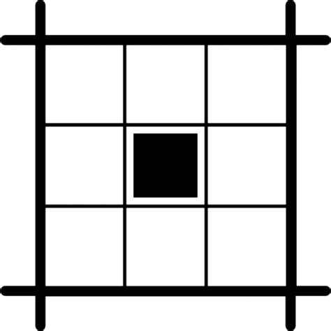 free layout grid center square selected in layout grid icons free download