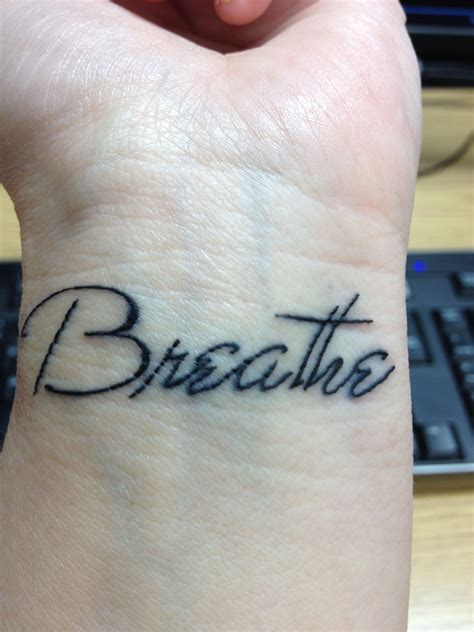 breathe tattoo breathe forever