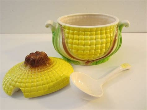 yellow gravy boat vintage corn gravy boat with ladle yellow by