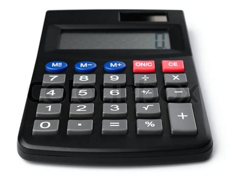 calculator simple simple black plastic calculator isolated over white