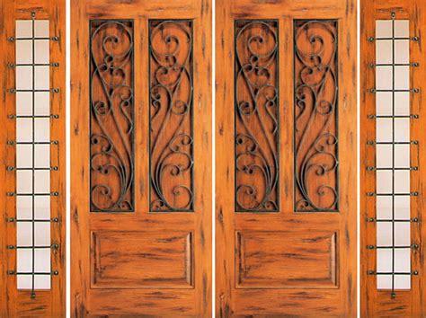 western exterior doors prehung door with two sidelites front knotty alder 3 panel rustic front doors