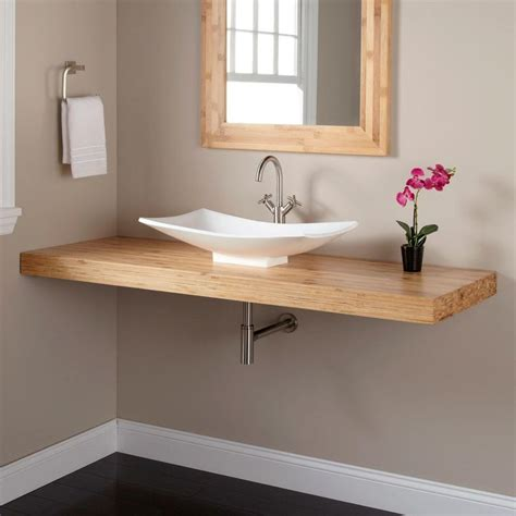 wall mounted sink vanity 25 best ideas about bamboo bathroom on