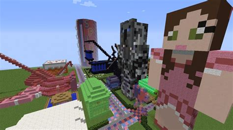 theme park popularmmos fanmade themepark for popularmmos and supergirlygamer
