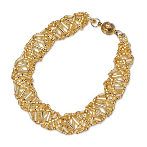 yellow beaded bracelet dna yellow beaded bracelet 9 5 quot