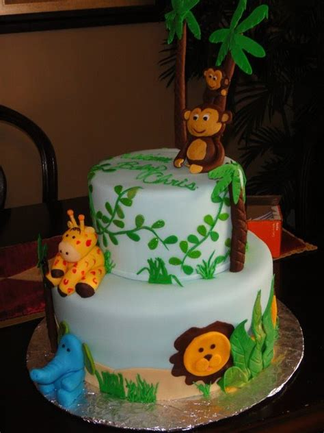 Jungle Theme Baby Shower Cakes the sweetest tiers jungle theme baby shower cake