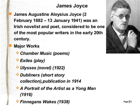 common themes in short stories of james joyce araby by james joyce prepared by kaushal desai
