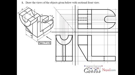 technical drawing section engineering drawing tutorials sectional and auxiliairy