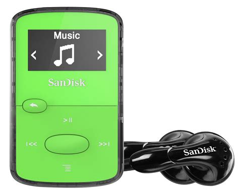 mp music play sandisk sansa clip jam mp3 player 8gb green