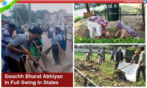 in full swing swachh bharat abhiyan in full swing in states my india