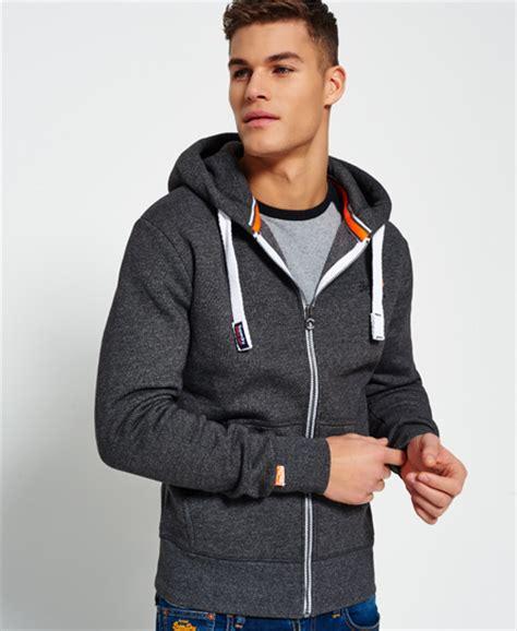 New Jaket Sweater Polos Hoodie Zipper Orange Oren mens orange label zip hoodie in low light black grit superdry