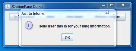 java swing alert java swing joptionpane exle onlinetutorialspoint