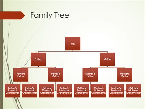 Family Tree Chart Vertical Green Red Widescreen Microsoft Office Family Tree Template
