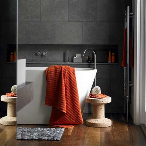 22 best images about home orange and grey bathroom on pinterest