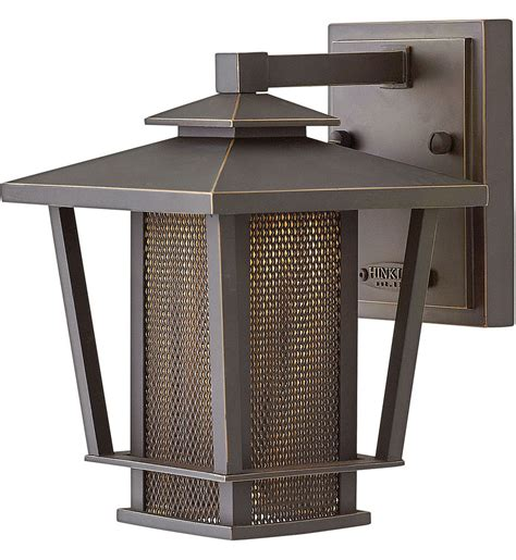 Sky 9 In Bronze Outdoor Wall Sconce - ls hinkley lighting 2740oz theo rubbed