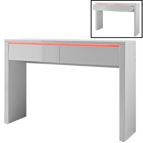 White Gloss Console Table Chique Console Table In White High Gloss With 2 Drawers And